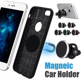 Universal Car Mount Phone Holder NZ - Universal Car Mount Air Vent Magnetic Car Holder for iPhone X 8 Mobile Phone Holder 360 Degree Rotation Mini Car for Samsung