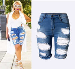 Discount Women Distressed Jean Shorts | 2017 Women Distressed Jean ...