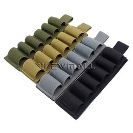 Chinese  Tactical 6 Rounds pouch Shotgun Shell hunting Holder holster magazine pouch Card Strip with Adhesive Back for 12 Gauge manufacturers