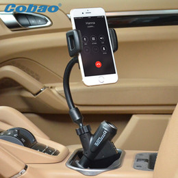 Discount iphone 5s car charger holder Wholesale- Universal USB car mobile phone holder with charger Cobao brand charging holder for most phones smartphone Iph