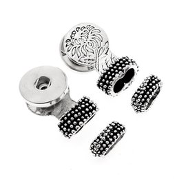 Chinese  20PCS Silver Crystal Ancient Silver Bracelet Head Snap Button Connector Jewelry Accessories Fit For 18MM DIY Snap Button Bracelets manufacturers