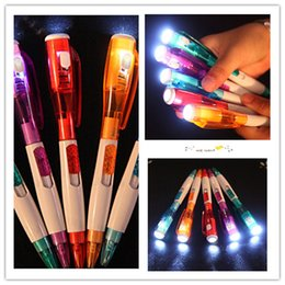 $enCountryForm.capitalKeyWord Canada - Korea cute creative stationery novel with led flashlight multi-function ball-point pen 5 color free