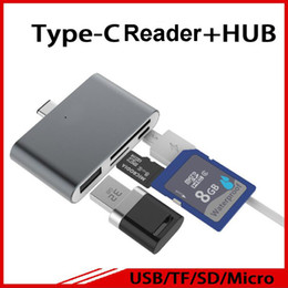 external smart card reader Australia - USB3.1 Type-C To USB2.0 Smart Reader Multifunction 4-in-1 USB OTG TF SD Card Reader Adapter For all Type C device Mackbook
