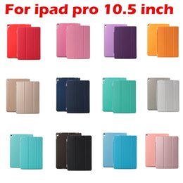 new ipad magnetic covers 2019 - New Arrive For Ipad Pro 10.5 inch Smart Cover Ultra Thin PU Leather Smart Magnetic Foilo Clear Transparent Flip Stand Ca