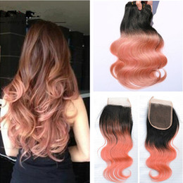 Rose gold hair extensions image collections hair extension brazilian gold hair extensions online brazilian gold hair dark root top lace closure with 3 bundles pmusecretfo Choice Image