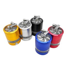 metal flashing colors UK - 4 layers metal smoking Hand Crusher With lamp Herb Tobacco grinders 5 colors Flashing LED lights
