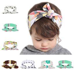 $enCountryForm.capitalKeyWord Australia - 10pcs  Lot Lovely Kids Headband Fashion Rabbit Ear Girl Headwear Bow Elastic Knot Headbands Diy Bowknot Hair Bands Accessories