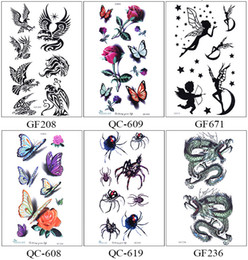 Cool Foot Tattoos Canada - Beautiful Cute Sexy Body Art Beauty Makeup Cool Waterproof Temporary Tattoo Stickers For Girls And Man Tatouage Temporaire