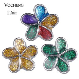 $enCountryForm.capitalKeyWord NZ - Vocheng Snap Jewelry Accessory Lovely Small Petite Ginger Snaps 12mm 4 Colors noosa chunks Snap Charms Vn-1823