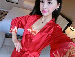 eccf707dd55 Sleeping dreSS Set online shopping - B509 Women Silk Sleepwear two piece  suit Nightgowns Sleep dress