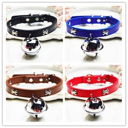 cat collar cute Australia - Bone Collar with a big bell diameter 4cm cute super Meng can wear traction rope pet dog cat accessories
