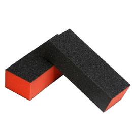 $enCountryForm.capitalKeyWord Canada - Wholesale- 5pcs lot New Nail Art Buffer Buffing Sanding Files Block Nail Tips Women Black Red Beauty Manicure Tools