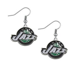 online shopping Hot Sale Enamel Jazz Charm Earring Alloy Basketball Team Logo Earring Sport Fans Earring Fashion Women Jewelry