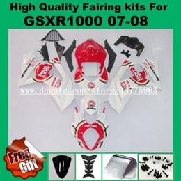 Discount suzuki k8 gold - 9Gifts, Fairing kits for SUZUKI 07 08 GSXR1000 2007 2008 #CJ327Y2 GSX-R1000 07 08 Fairings kit K7 K8 red white windscree
