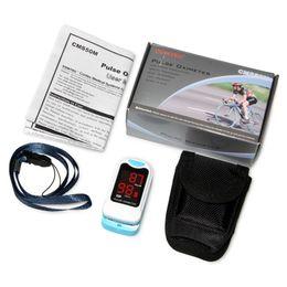 100% de garantía Finger Tip Pulsómetro Oxímetro de pulso Spo2 Monitor LED CMS50M