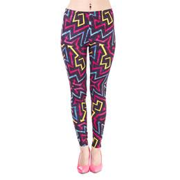 Yoga Pant Pattern Free UK - Lady Leggings Retro Arrows 3D Digital Print Women Skinny Stretchy Runner Yoga Pants Girl Capris Colorful Pattern Workout Trousers (J42428)