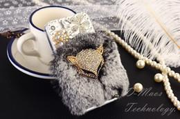 $enCountryForm.capitalKeyWord Canada - For iPhone Xs Max Case Xr X 8 7 6 6s Plus Diamond Fox Soft Hair Skin Women Cover Luxury Sparkly Cute Girly