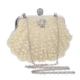 $enCountryForm.capitalKeyWord Canada - 2017 new luxury handbags Korean fashion white beige women lady handmade shell shape pearls evening bags