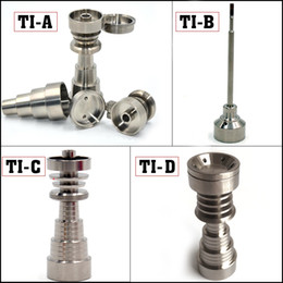 Oil rig titanium nail carb cap online shopping - GR2 titanium domeless nail carb cap In female male domeless titanium nail for glass bongs oil rigs