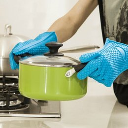 ovens bbq grill 2019 - Heat Holder Gloves Barbecue Silicone Kitchen Oven Mitts Cook Microwave Resistant Gloves Pot Holder Kitchen Tools BBQ Gri