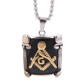 $enCountryForm.capitalKeyWord Canada - Free Shipping new Top quality masonic pendant necklace 316 stainless steel freemasonry necklace men jewelry free shipping
