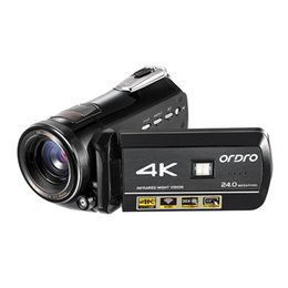 Shoot cameraS online shopping - ORDRO AC1 K Ultra HD WIFI MP Digital Camera Infrared Video Recorder Night Vision xZoom PC CAM For Live Steaming