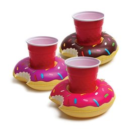 Toy Cookies Canada - Mini Funny Cookie Shape Ballon Toys for Kids Doughnut Inflatable Can Holders Drinks Swimming Ring Prank and Practical Jokes