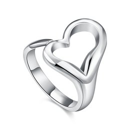 "vogue jewelry china UK - Vogue Jewelry 925 Silver Plated New Open Style ""O"" Design Rings Fashion Finger Rings Free Shipping"