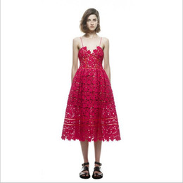 $enCountryForm.capitalKeyWord Canada - 6 Colors New Arrival Lace Dress Back Zipper Spaghetti Strap Dress Split Hem Sexy Backless Floral Lace White Red Lace Dresses