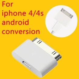 Discount apple cable 4s - Wholesale- Micro USB Charger Adapter USB Cable Head For Apple 4 4s ipad 1 2 3itouch Change Cable for Android to for iPho