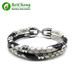 Leather Bracelets Watch For Men NZ - BC Latest Luxury Python Leather Bracelet Snake Leather For Watch Genuine Leather For Women and Men