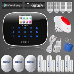 $enCountryForm.capitalKeyWord Australia - LS111- KERUI ios android app remote controller 8 independent zones GSM home alarm system +wireless flashing siren with EU US UK AU plug
