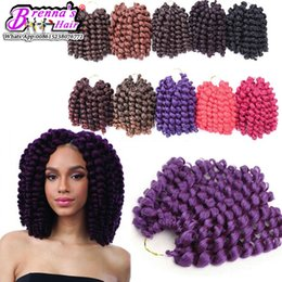 $enCountryForm.capitalKeyWord NZ - African hairstyles free styles no shedding synthetic bouncy curly weft 2x wand curly braids marley braids hair extension bundles for USA UK
