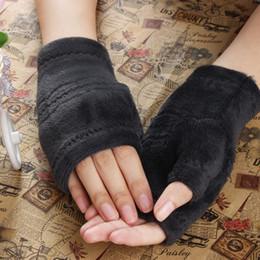Keyboard gloves online shopping - Hot Women Winter Autumn Thick Warm Gloves Keyboard Leak Finger Gloves Wrist Fingerless Gloves Mittens High Quality Colors