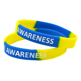Wholesale jelly online shopping - Down Syndrome Awareness Silicone Wristband Bracelet A Great Message to Carry In Case Emergency
