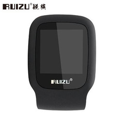 mini clip mp3 player bluetooth 2019 - Wholesale- 2017 New Arrive Original RUIZU X09 Sport MP3 Player 4GB Clip Mini with Screen Can Play 30 Hours, with FM,,Clo