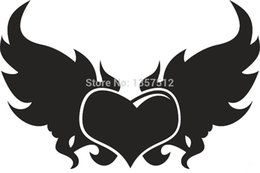 $enCountryForm.capitalKeyWord UK - Wholesale 20pcs lot Automobile Motorcycle Products Vinyl Decal Car Stickers Glass Stickers Scratches Sticker Jdm Heart Wings Hands