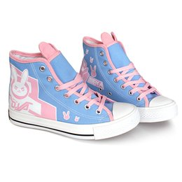 $enCountryForm.capitalKeyWord UK - Kukucos Anime DVA Female Models Canvas Shoes DJ Lucio Shoes Cartoon Canvas Shoes Leisure Painted Colourful Sneakers Game Cosplay Gift