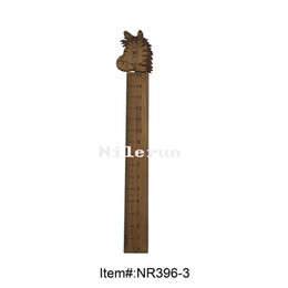 horse stationery NZ - Creative stationery children's cartoon horse bamboo ruler