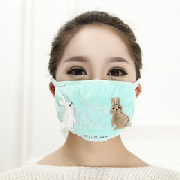 Protective covers warmer online shopping - In the fall and winter of more breathable fashion mouth cover dust proof warm cycling ms protective masks of