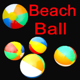 Inflatable Pools Wholesale Canada - 9 Inch Rainbow Inflatable Beach Balls Summer Beach Party Favors Swimming Pool Ball Toys Summer Gift C152Q