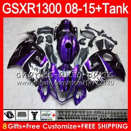 Gsxr fairinG red white online shopping - 8Gifts Colors For SUZUKI Hayabusa GSXR1300 HM21 purple black GSX R1300 GSXR Fairing Kit