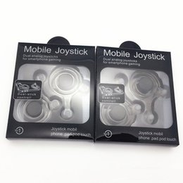Wholesale 2017 Hot Sale Mini Plastic Mobile Joysticks Game Controllers Dual Analog Joysticks For ipad Tablet iphone Samsung Smartphone Gaming