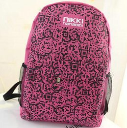 Camouflage Day Backpacks Canada - QR Code backpack 2D barcode school bag Plum color daypack Unique schoolbag Outdoor rucksack Sport day pack