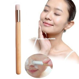 Nose Cleanser Australia - Professional Makeup Nose Cleansing Brush Long Raw Wood Handle Cosmetic Women Cleanser Face Skin Care Cleaning Tool