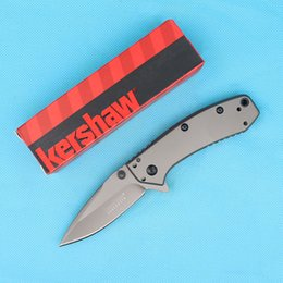 offering boxes NZ - Special Offer Kershaw 1555TI Assisted Flipper Knives 8Cr13 Titanium Coated Blade EDC Pocket Knife With Original Retail Box Package