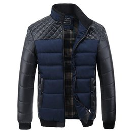 China 4XL ,New Winter Jacket Men Patchwork Warm Thick Coats Male Inside Down Cotton Parkas Mens Thermal Brand Clothing SA004 cheap jackets pockets inside suppliers
