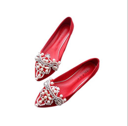 Flat shoes crystals online shopping - Women Crystal Ballet Flats Size Spring suede Solid Bling Cloth Pointed Toe Slip On Flat Woman loafers drive shoes DH49