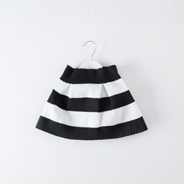 Chinese  Children Skirt Black white Stripe Skirt Kids Fashion Tutu Skirt for 1~7 Y 5 P L manufacturers