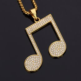 $enCountryForm.capitalKeyWord Canada - New Design Male Big Pendants Necklaces Pieces Rhinestone 18k Gold Filled Chains Filling Pieces Mens Necklace Fashion Costume Jewelry